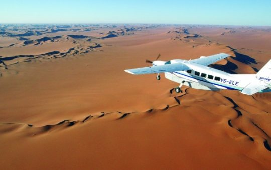 fly in safari in namibia
